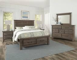 Sawmill Saddle Grey Louver Storage Bedroom Set