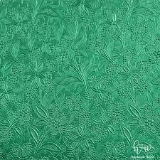 Brighten Lace Emerald Green Colour Textured Paper Mep14 07dgr