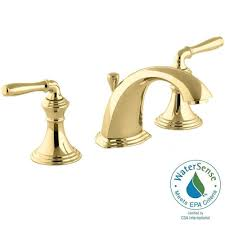 bathroom faucets widespread. Polished Brass Bathroom Faucets Widespread 2-handle Low-arc Faucet In Vibrant K