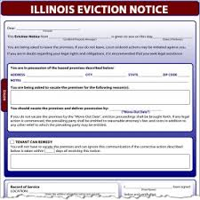 5 day eviction notice illinois form eviction notice