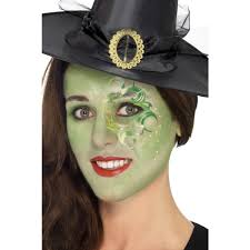 green pretty witch make up face paint kit 44410 witch face paint children s