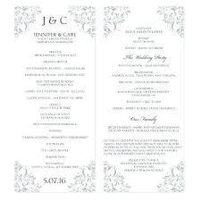 Wedding Programs Template Free Indian Wedding Program Template