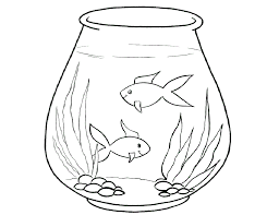 Small Picture Fish Tank clipart bowl drawing Pencil and in color fish tank