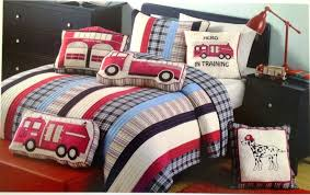 firefighter bed set fire truck toddler bedding all home ideas and decor little in firefighter bed