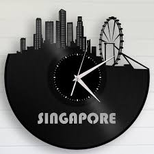 Record Gifts Singapore Wall Clock Personalized Gift Office Clock Repurposed