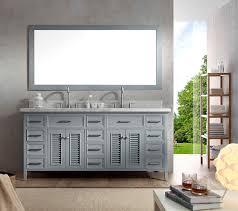 ariel kensington 73 double sink vanity set in grey