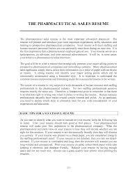 Best Ideas Of Resume Templates Pharmaceutical Sales Resume Templates