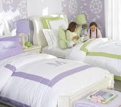 adorable kids bedroom paint color schemes ideas decorative purple walls with white flower wall art