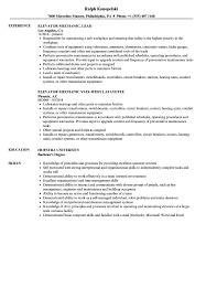 elevator resume sample elevator mechanic resume samples velvet jobs