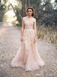 discount blush arabic wedding dresses v neck short sleeve vintage