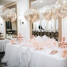Wedding Reception Dessert Table 18 Confetti Balloon Decoration