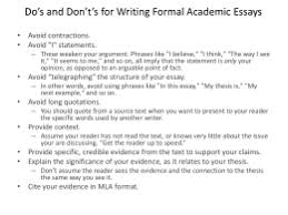 embedded assessment i definition essay do s and don t s for writing formal academic essays • avoid contractions
