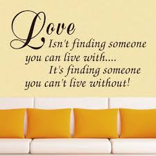 Wall Decor Stickers For Living Room Vinyl Wall Art Decal Decor Love Quote Stickers Love Isnt Finding