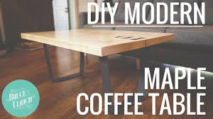 diy modern maple coffee table woodworking project
