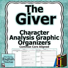 the giver character ysis graphic organizers middle age arts collaboration the giver graphic organizers and teaching