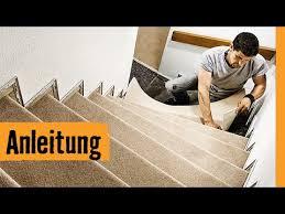 Heimwerker können selbst einen neuen teppich verlegen. Teppich Auf Treppe Verlegen Hornbach Meisterschmiede Youtube