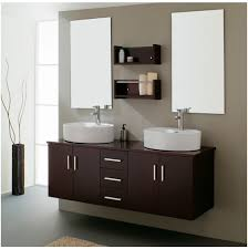 modern bathroom cabinets. Modern Bathroom Cabinets Popular Remarkable Twim Mirror On Simple Wall Near Two Washbasin Wooden Sink Stand