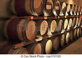 stacked oak barrels. Wine Barrels - Csp1741120 Stacked Oak D