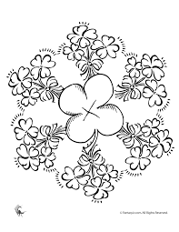 Shamrock Coloring Pages Google Search Coloring St Patrick S Day