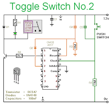 toggle switch no 2 cmos 4017 notes