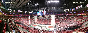 Moda Center Rose Garden Arena View From Section 230