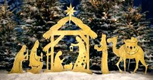 plastic outdoor nativity scene lighted sets decorations costco
