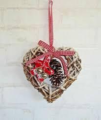 Fensterdeko Hängedeko Türdeko Winter Weihnachten Herz Rot
