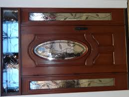 perfect wooden door with glass furniture stained brown wooden door with oval frosted glass plus