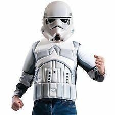 Boys Deluxe Stormtrooper Costume Kids Top U0026 Mask Star Wars Fancy Dress