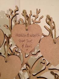 wishing tree large wooden guest book heart written