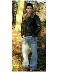 men s air force aviator style authentic sheepskin flying jacket