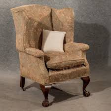 antique large wing armchair wingback fireside chair fine shape victorian c1890