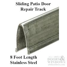 tracks sliding door patio glass door v track 9 in width 8 ft length stainless steel tracks sliding door