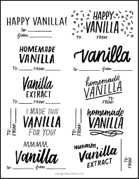 Recipe Labels Homemade Vanilla Extract Plus Free Printable Labels