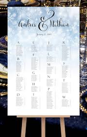 Poster Seating Charts For Wedding Receptions
