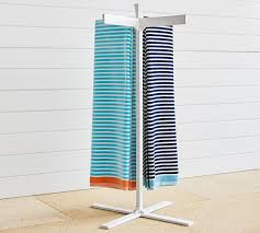 Malibu Pool Storage Towel Stand Pottery Barn