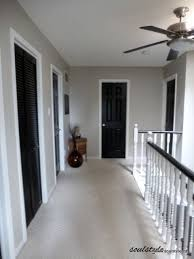 black interior doors pewter walls white door frames wonder how much talent and time this would take to pull off in our new house i love this look