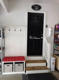 easy diy mudroom in the garage easy diy garage organization ideas and storage