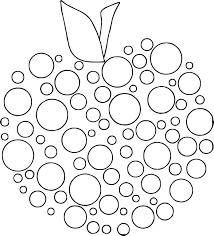 Apple Polka Dot Coloring Page Wecoloringpagecom