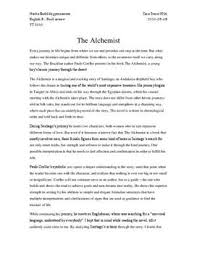 the alchemist analysis essay the alchemist analysis essay term papers