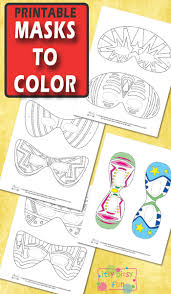 Choose a fun design and unleash your creativity with accents and. Halloween Masks For Kids To Color Itsybitsyfun Com