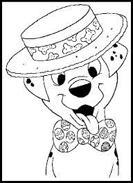 free 101 dalmatians coloring page to print and color for kids
