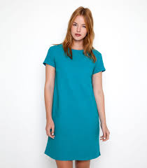 Light Teal 51 Linen 49 Cotton Women S Shift Dress Woolovers