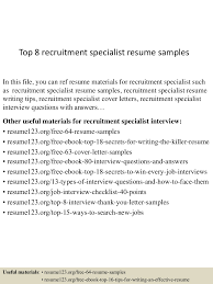 Recruiting Specialist Resume Sample Top224recruitmentspecialistresumesamples15024260122424524conversiongate224thumbnail24jpgcb=1243022422452243 18
