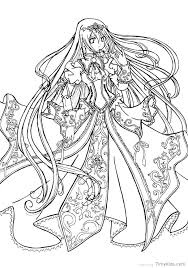 Coloring Pages Anime Anime Princess Coloring Pages Coloring Pages