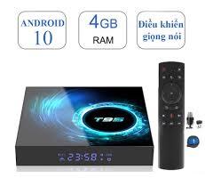 Android Tivi Box T95 hệ điều hành android 10 RAM 4GB ROM 32GB điều khiển  giọng nói tiếng Việt