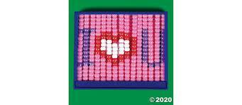 plastic valentine bead frame craft kit