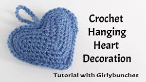 Crochet Decoration Patterns Hanging Heart Crochet Decoration Tutorial Girlybunches Youtube