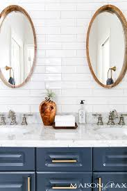 Beautiful subway tile bathroom remodel renovation Bathroom Floor How To Plan Bathroom Remodel Where To Splurge And Save As Well As Sources Maison De Pax Sources For Bathroom Remodels Save And Splurge Tips Maison De Pax