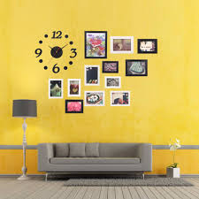 office wall frames. aliexpresscom buy big sale modern diy home decor office wall hanging display picture photo frames set with clock and sticker house from c